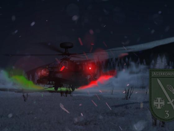Apache bei Landung