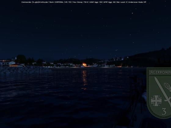 Kavala bei Nacht