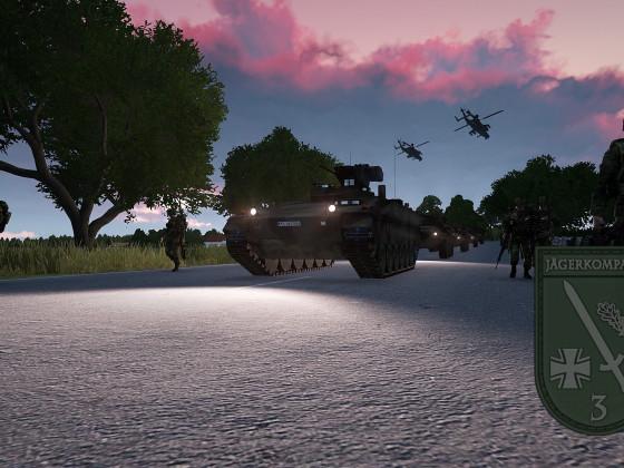 Deutsche Truppen verlegen nach einem schweren Kampf
